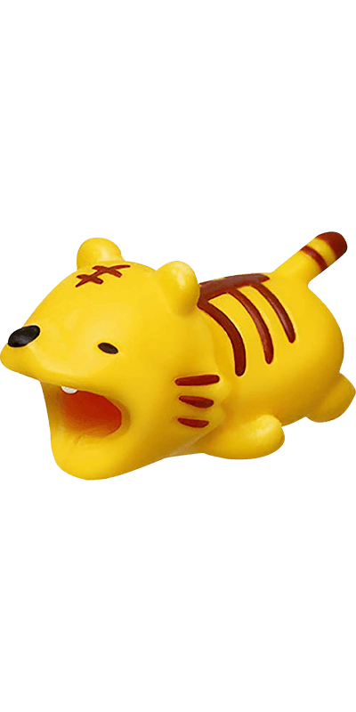 Apple iPhone XS kábelvédő tigris