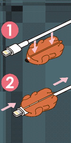 Apple iPhone XS kábelvédő süni