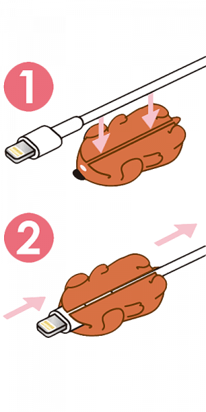 Apple iPhone X kábelvédő oroszlán
