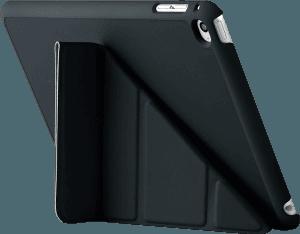 Apple iPad Mini 4 oldalra nyíló flipes bőrtok szilikon keret fekete