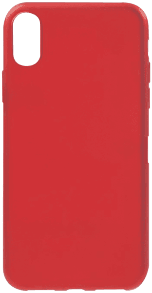 Apple iPhone X szilikon tok mágneses kompatibilitás piros