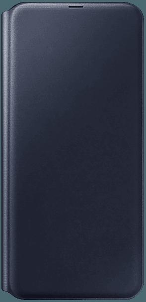 Samsung Galaxy A70 (SM-705) oldalra nyíló flipes bőrtok gyári SAMSUNG bankkártya tartó fekete