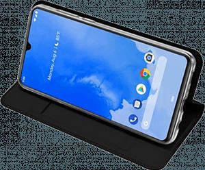 Samsung Galaxy A70 (SM-705) oldalra nyíló flipes bőrtok gyári DUX DUCIS bankkártya tartó fekete