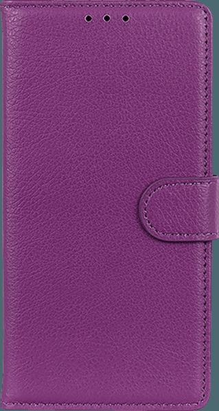 Samsung Galaxy A70 (SM-705) oldalra nyíló flipes bőrtok asztali tartó funkciós lila