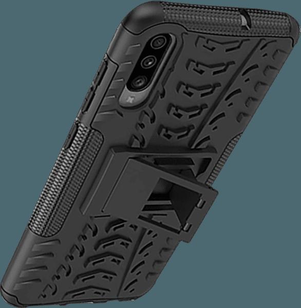 Samsung Galaxy A70 (SM-705) ütésálló tok kitámasztó fekete