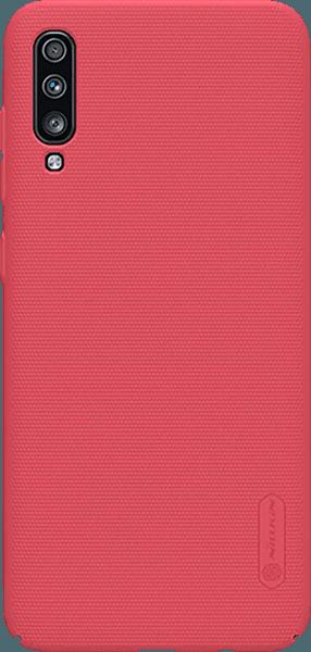 Samsung Galaxy A70 (SM-705) kemény hátlap gyári NILLKIN gumírozott-érdes felületű piros
