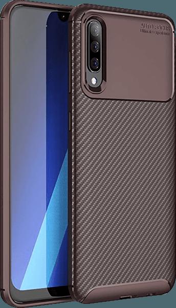 Samsung Galaxy A70 (SM-705) ütésálló tok légpárnás sarok barna