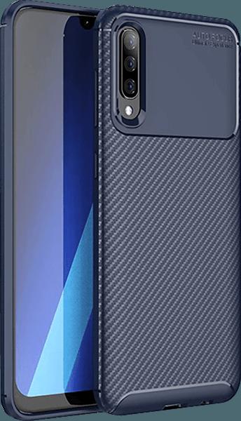 Samsung Galaxy A70 (SM-705) szilikon tok légpárnás sarok kék