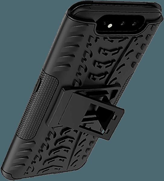Samsung Galaxy A80 ütésálló tok kitámasztó fekete