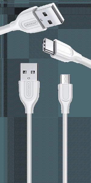 Samsung Galaxy A8 2018 (A530) Prémium Type-C gyorstöltő adatkábel fehér
