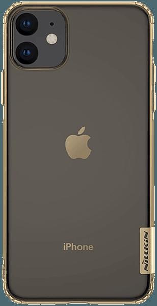 Apple iPhone 11 szilikon tok gyári NILLKIN légpárnás sarok aranybarna