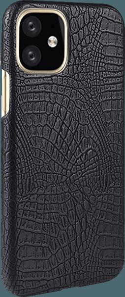 Apple iPhone 11 kemény hátlap krokodilbőr mintás fekete
