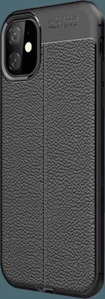 Apple iPhone 11 szilikon tok varrás mintás fekete