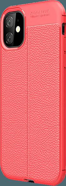 Apple iPhone 11 szilikon tok varrás mintás piros