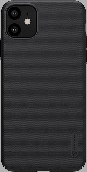 Apple iPhone 11 kemény hátlap gyári NILLKIN gumírozott-érdes felületű fekete