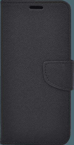 Apple iPhone 11 oldalra nyíló flipes bőrtok csuklópánt fekete