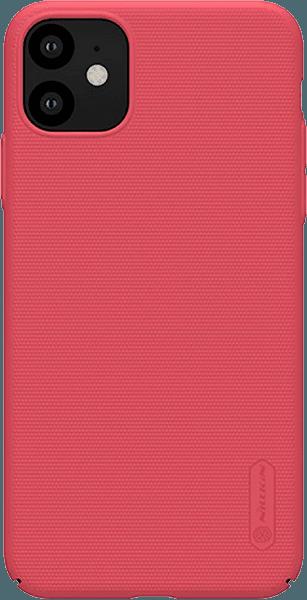 Apple iPhone 11 kemény hátlap gyári NILLKIN gumírozott-érdes felületű piros