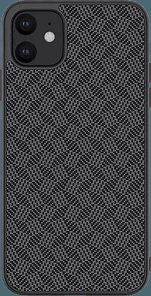 Apple iPhone 11 kemény hátlap gyári NILLKIN 3D csíkos minta fekete