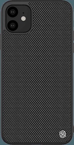 Apple iPhone 11 kemény hátlap gyári NILLKIN szilikon keret fekete