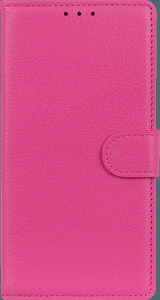 Apple iPhone 11 Pro oldalra nyíló flipes bőrtok asztali tartó funkciós rózsaszín