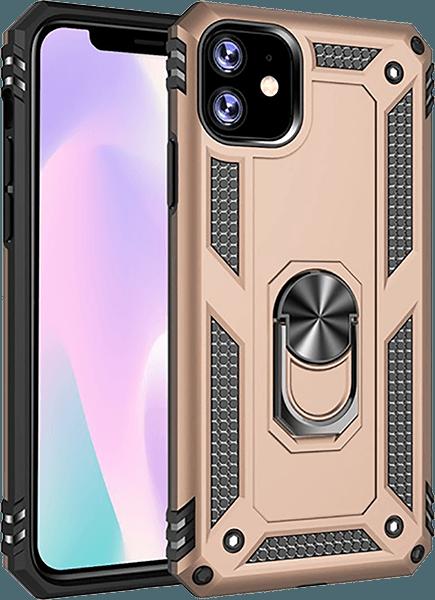 Apple iPhone 11 Pro ütésálló tok beépített fémlemez arany