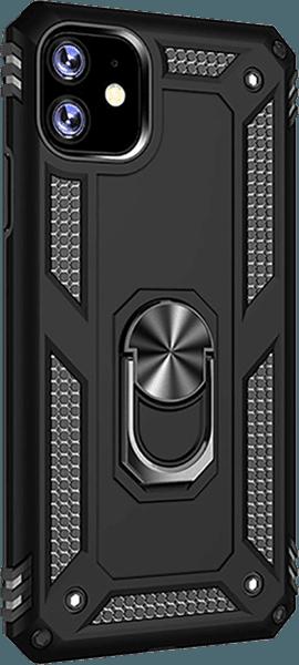Apple iPhone 11 Pro ütésálló tok beépített fémlemez fekete
