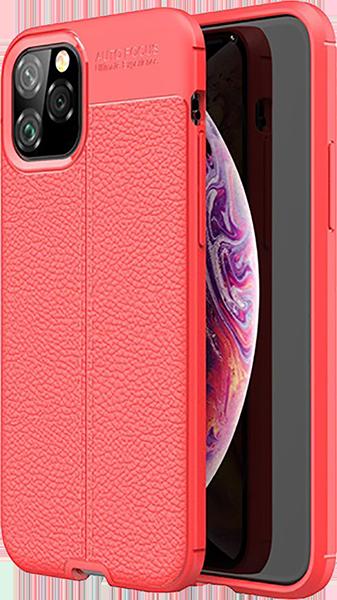 Apple iPhone 11 Pro szilikon tok varrás mintás piros