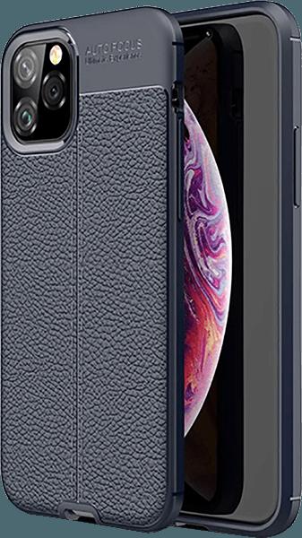 Apple iPhone 11 Pro szilikon tok varrás mintás sötétkék