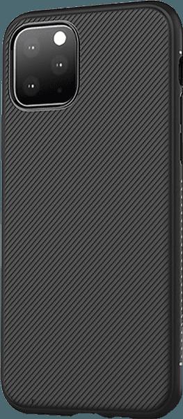 Apple iPhone 11 Pro szilikon tok csíkos fekete