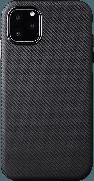 Apple iPhone 11 Pro szilikon tok karbon mintás fekete