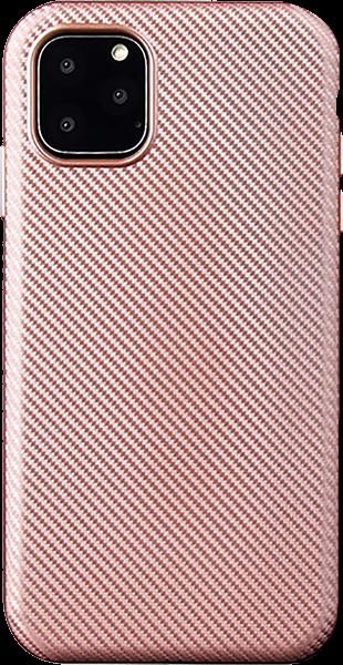 Apple iPhone 11 Pro szilikon tok karbon mintás rozéarany