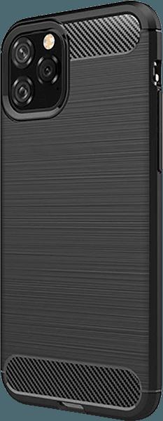 Apple iPhone 11 Pro ütésálló TPU tok szálcsiszolt - karbon minta légpárnás sarok fekete