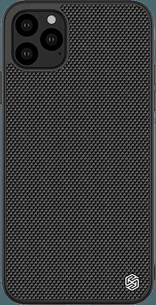 Apple iPhone 11 Pro kemény hátlap gyári NILLKIN szilikon keret fekete