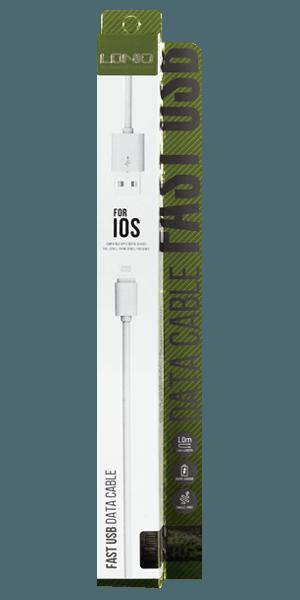 Apple iPhone 11 Pro Prémium Lightning USB adatkábel fehér
