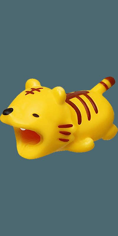 Apple iPhone 11 kábelvédő tigris