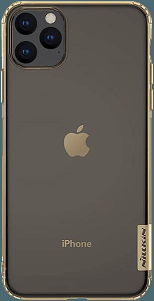 Apple iPhone 11 Pro Max szilikon tok gyári NILLKIN légpárnás sarok aranybarna