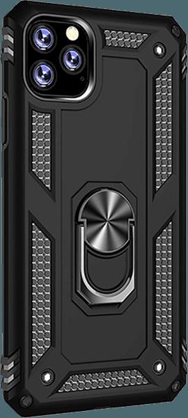 Apple iPhone 11 Pro Max ütésálló tok beépített fémlemez fekete