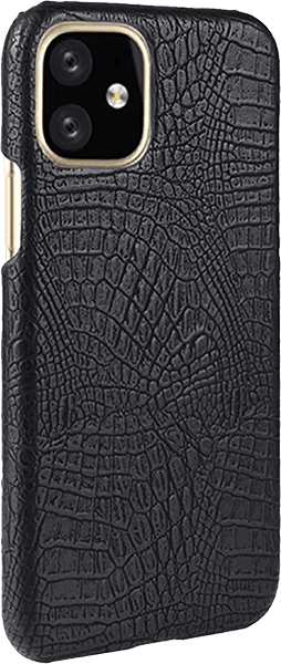 Apple iPhone 11 Pro Max kemény hátlap krokodilbőr mintás fekete