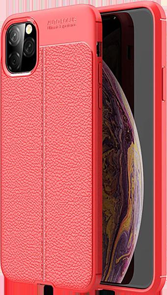 Apple iPhone 11 Pro Max szilikon tok varrás mintás piros