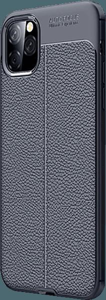 Apple iPhone 11 Pro Max szilikon tok varrás mintás sötétkék