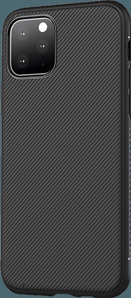 Apple iPhone 11 Pro Max szilikon tok csíkos fekete