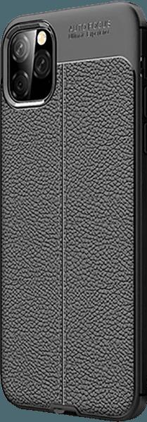 Apple iPhone 11 Pro Max szilikon tok varrás mintás fekete