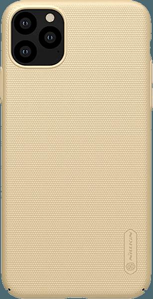 Apple iPhone 11 Pro Max kemény hátlap gyári NILLKIN gumírozott-érdes felületű arany