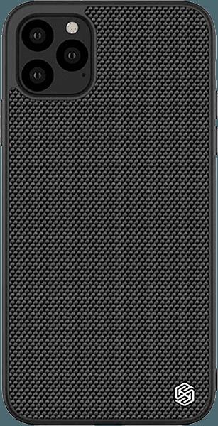 Apple iPhone 11 Pro Max kemény hátlap gyári NILLKIN szilikon keret fekete