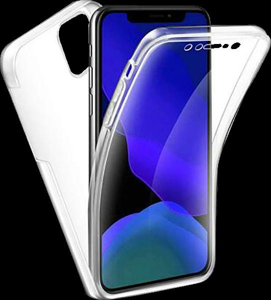 Apple iPhone 11 kemény hátlap szilikon előlap 360° védelem átlátszó