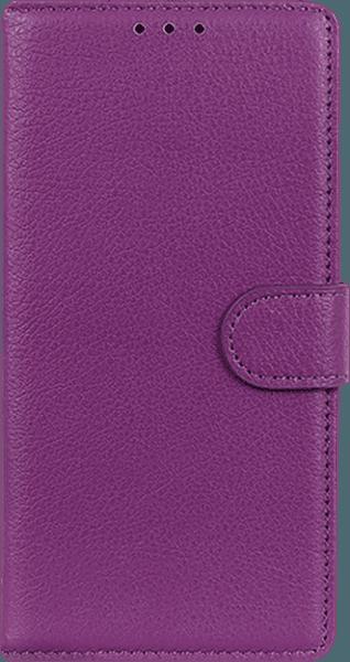 Nokia 3 2019 (Nokia 3.2) oldalra nyíló flipes bőrtok asztali tartó funkciós lila