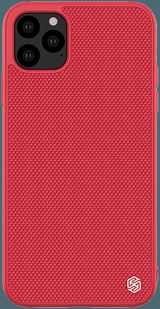 Apple iPhone 11 Pro Max kemény hátlap gyári NILLKIN szilikon keret piros