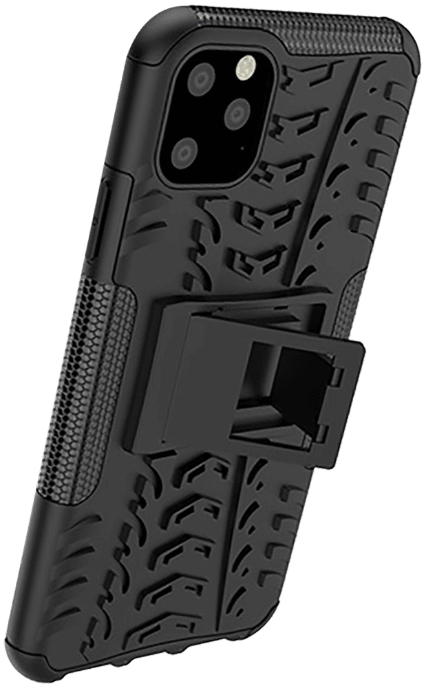 Apple iPhone 11 Pro Max ütésálló tok kitámasztó fekete