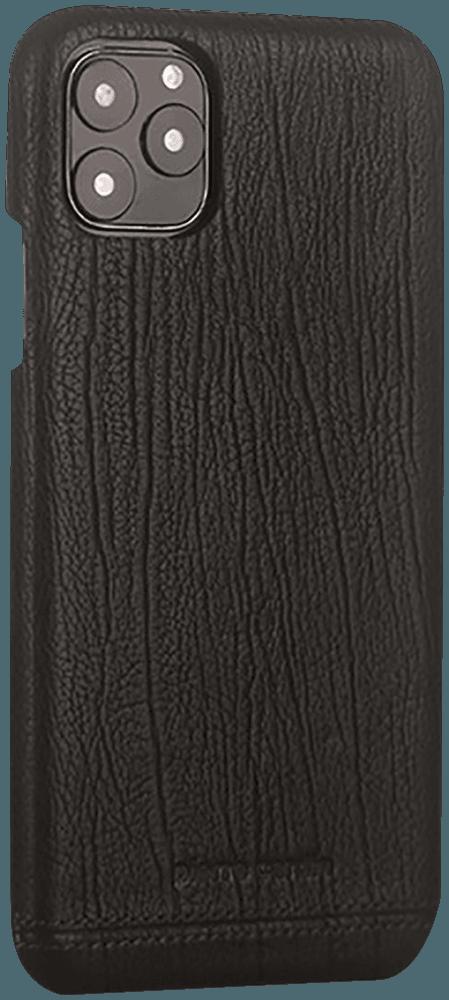 Apple iPhone 11 Pro kemény hátlap gyári PIERRE CARDIN valódi bőrbevonatú fekete