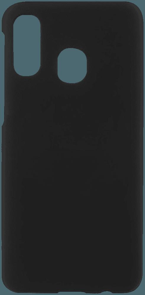 Samsung Galaxy A40 (SM-405) kemény hátlap gumírozott fekete